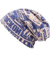 cappello di cotone da uomo delle donne stampa la cinghia calda morbida calda del cotone di hip hop beanie skullies