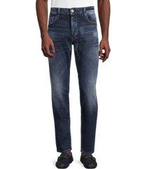 g-star raw men's g-bleid slim jeans - worn in - size 33 32
