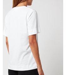 ganni women's thin software jersey t-shirt - egret - m