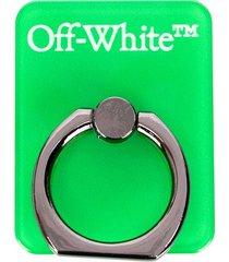 off-white logo-print phone ring - green