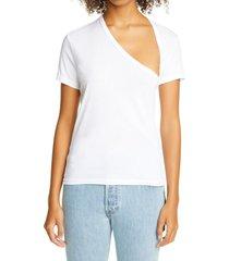 women's john elliott asymmetrical neck supima cotton t-shirt