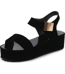sandalias de mujer con plataforma de tacón alto.