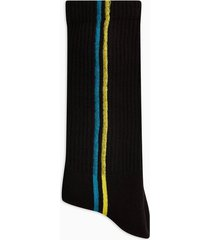 mens black vertical stripe tube socks