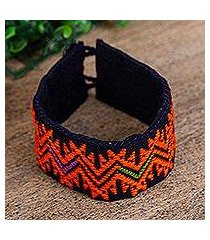 cotton wristband bracelet, 'details of summer' (mexico)