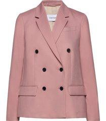 fine twill db blazer blazers business blazers rosa calvin klein