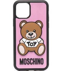 moschino teddy motif iphone 11 pro case - black