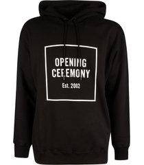 opening ceremony box logo slim hoodie