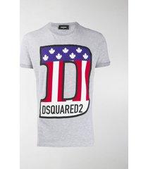 dsquared2 flag logo printed t-shirt