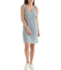 women's lucky brand knotted tank dress, size large - blue