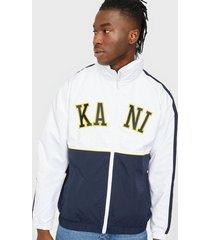karl kani college block windrunner jackor white