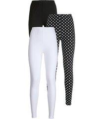 legging simone zwart/wit