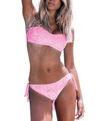 bikini admas 2-delige push-up hoofdbandset fluwelen adma's