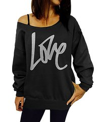 black letter long sleeves sweatshirt