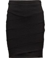 jersey skirt cut lines knälång kjol svart saint tropez