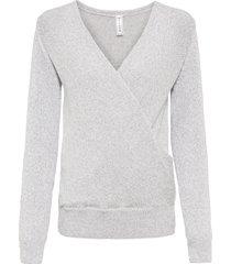 maglione a portafoglio con poliestere riciclato (grigio) - rainbow
