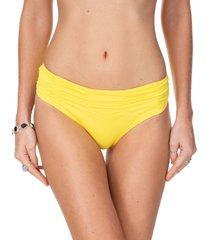 calcinha frente franzida beach amarelo-gg