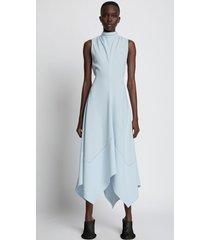 proenza schouler matte crepe georgette dress pale blue 6