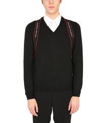alexander mcqueen v-neck sweater