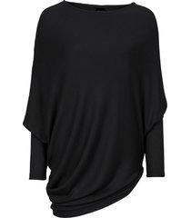 maglione oversize con fondo asimmetrico (nero) - bodyflirt