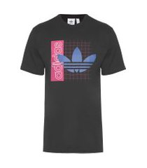 t-shirt masculina grid - preto