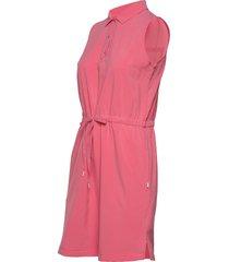 sleeveless dress knälång klänning rosa puma golf