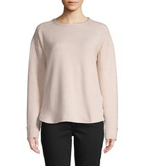 high-low long-sleeve top
