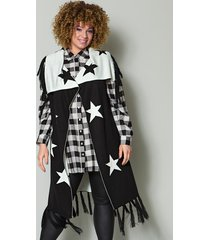 mouwloos vest angel of style zwart::offwhite
