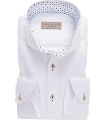 john miller shirt wit tailored fit contrastkraag