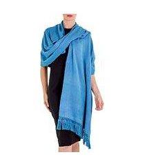 cotton shawl, 'rain in the country' (guatemala)
