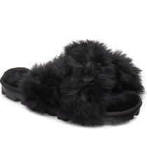 w fuzzalicious shoes summer shoes flat sandals svart ugg