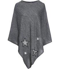 poncho med paljettstjärnor