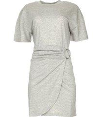 t-shirt jurk met ceintuur erika  grijs