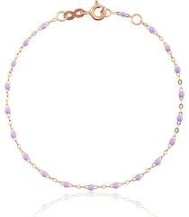 gigi clozeau 18kt rose gold classic gigi lilac beaded bracelet - pink