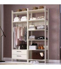 closet 2 gavetas 8 prateleiras cbcla02 off white - completa móveis