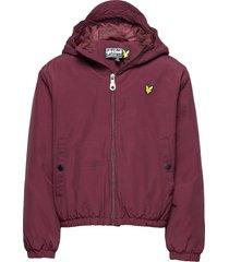 zip through hooded jacket jacka rock röd lyle & scott junior