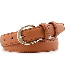 alloy buckle pu leather waist belt