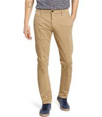 men's mavi jeans johnny slim fit twill chino pants, size 31 x 32 - brown