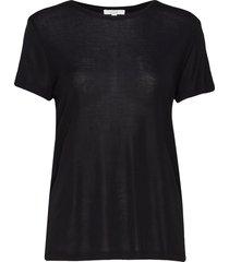 upama rib top t-shirts & tops short-sleeved zwart dagmar