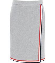 thom browne mini skirt with tricolor edges