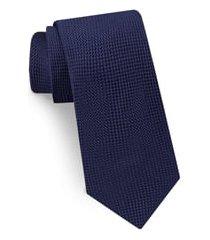 men's ted baker london solid silk tie, size regular - blue