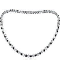 natori indochine alternate black diamond tennis necklace, women's natori