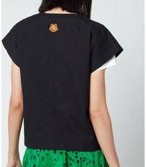 kenzo women's kimono shirt - black - eu 41/uk 12