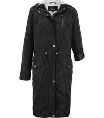 parka leggero con fodera di jersey (nero) - bpc bonprix collection