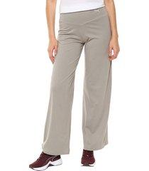 pantalón gris puma transition flared pants