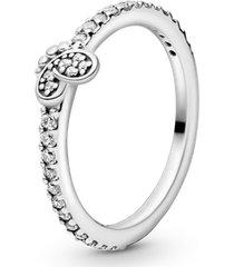anel brilhante delicada borboleta