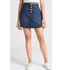 falda jeans mujer azul gap