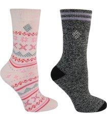 columbia 2-pk. thermal crew socks