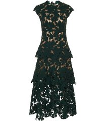 lace cocktail dress, peacock green