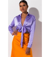 akira bad lil thang tie front blouse