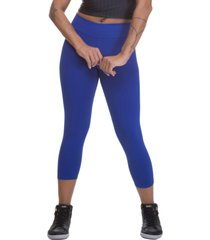 calça legging miss blessed capri suplex azul royal